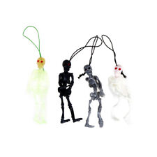 2Pcs Hanging Human Skeleton Decoration Halloween Party Scary Skull Deco Jw