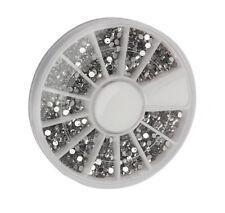 2400pcs 3D Nail Art Rhinestones Glitter Tips Decoration Acrylic Manicure Wheel