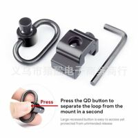 Quick Release Detach QD Sling Swivel Attachment w/ 20mm Picatinny Rail Mount