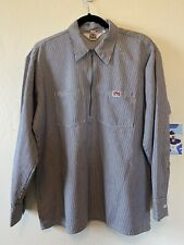 vtg usa made BEN DAVIS quarter zip pullover work shirt TALON zipper LARGE