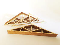 REAL WOOD ROOF TRUSSES TO FIT METCALFE PO261 & PO262 & OO SCALE RAILWAY LX201-OO