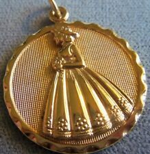 Dancraft 12K Gold Filled Lady Woman Girl Charm or Pendant for Necklace Nice