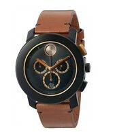 Movado 3600348 Men's Swiss Quartz Stainless Steel and Leather Watch, Brown