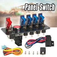 6 En1 Interruptor de Carreras Contacto Coche DC12v + 5 LED Alternar Panel Botone