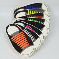 16x Lazy No Tie Shoelaces Silicone Shoelaces Elastic Shoe Laces for_Sneakers