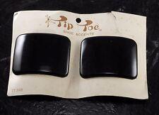 Vintage Tip Toe Blck Plastic Shoe Clips SHoe Accents Accessory NOC