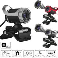 USB 12 Megapixel HD Webcam Web Cam Camera MIC for Computer PC Laptop Desktop
