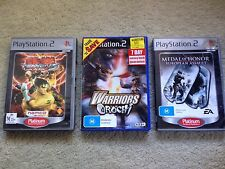 3 x SONY PS2 Games - MEDAL OF HONOR EUROPEAN ASSAULT, TEKKEN 5 & WARRIORS OROCHI