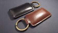 Lot de 2 porte clés en cuir de veau - noir & marron