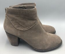Steve Madden Milaan Brown Suede Ankle Booties Womens Size 9M