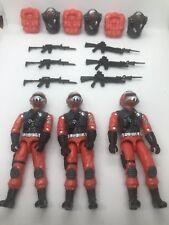 Black Major Custom Red Steel Brigade Joe 3Fig Lot