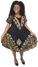 Tye It Up Women's Summer Dress bohemian Raglan Sleeve Embroidery
