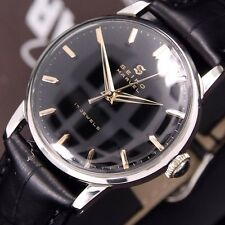 Authentic Seiko Marvel 17 Jewels Black Dial Manua Winding Mens Watch