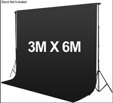 Photography 3*6m Muslin Cotton Chromakey Backdrop Studio Fabric Background BLACK