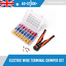 400 Piece Insulated Terminals + Wire Crimper Kit Set Electric Connectors Cable