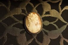 Rare Cameo of Lady Good Size Good Order Brooch Sturdy Pin some wear