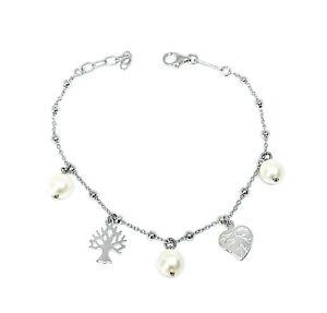 Julie Julsen Damen Armband Lebensbaum Sterlingsilber 925 Perle JJBR9850.1