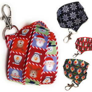 Christmas pattern Spirius Breakaway Lanyard Neck strap for ID card badge Holder
