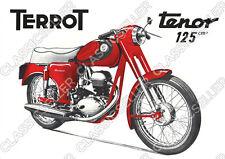 TERROT TENOR 125 CCM Moto Poster Affiche Art pression Oldtimer Bouclier Affiche