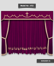 Saaria HT-2 Home Theater Event Stage Movie Hall Decor Curtains Drapes 14'W x 8'H