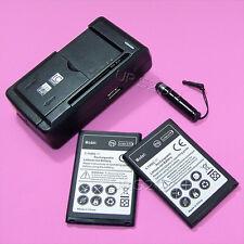 2x 2560mAh Battery Desktop Charger Touch Pen for LG Optimus Zip L75C Smart Phone
