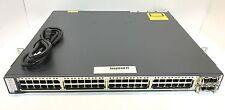 WS-C3750E-48PD-S - Cisco Catalyst 3750E 48 10/100/1000 PoE+2*10GE(X2) 750W IPB