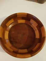 Vintage Wooden Fruit Bowl 9Inch Used Condition