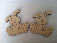 X5 Wooden Rabbit Shapes, Craft, Embellishment