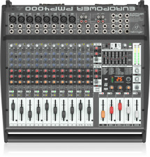 Behringer PMP4000 1600-Watt 16-channel Powered Mixer
