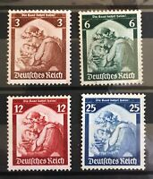 Germany 1935 3rd Reich  Mi 565 to 568  Sc 448 to 451 Return of Saar  **MNH