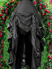 Gothic Steampunk Burlesque Bustle Rock Skirt Pinstripe Nadelstreifen Victorian