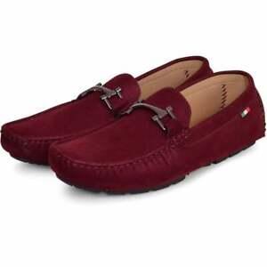Mens Luxury Italian Velvet Loafers Slip On Moccasins Driving Boat Deck Shoes