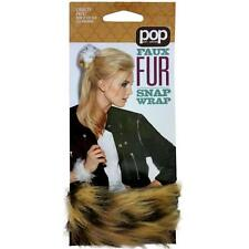 """New! POP Faux Fur Snap Wrap - Cheetah Not! Extension 16"""" Cruelty Free"""
