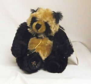 Baby Panda Ulla Hermann Artistline 6in black brown Mohair teddy bear 111 of 500