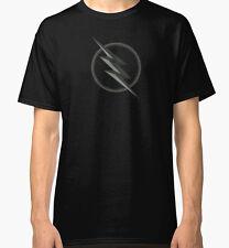 The Flash DC Zoom TV Symbol T-shirt Men's Women's Black Tee