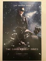 """THE DARK KNIGHT RISES movie poster : ANNE HATHAWAY : 11"""" x 17"""" CATWOMAN poster"""
