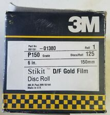 """3M 01380 Stikit Gold 6"""" P150 Grit Dust-Free Film Disc Roll 125 pieces per roll"""