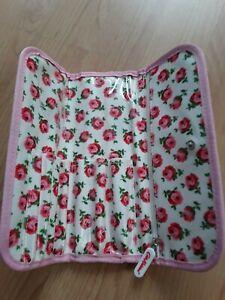 Cath kidston make-up brush holder case pink rose design 💕
