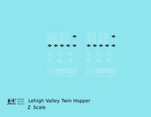 K4 Z Decals Lehigh Valley Twin Hopper Car White