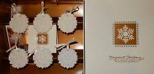 Margaret Furlong Winter's Jewels Boxed Set Of Six Snowflake Ornaments