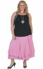 Plus Size Solid Long Full Skirts for Women