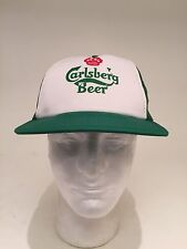 Rare Vintage Carlsberg Probably The Best Beer In The World Green Hat Cap Trucker