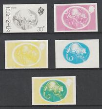 Dominica 3302 - 1975  OPOSSUM  30c set of PROGRESSIVE PROOFS u/m