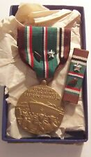 WW II European African Campaign Medal in Box Arrowhead 1 Silver Battle Star MACO