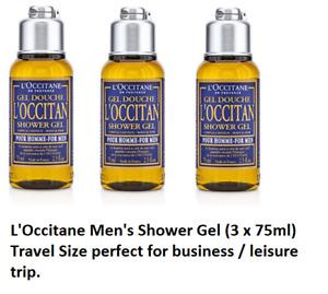 L'Occitane Men's Shower Gel (3 x 75 ml)