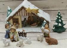 Goebel Porzellan Krippe m.Figuren&Tieren 15tlg. Weihnachten Deko Geschenk