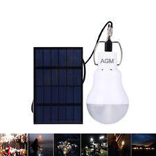 15W LED Solar Glühbirne Solarleuchte Gartenleuchte Kugelleuchte Campinglampe DE