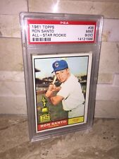 CHICAGO CUBS RON SANTO TOPPS ALL STAR ROOKIE BASEBALL CARD PSA 9 MINT OC