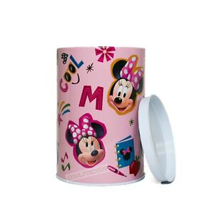 Disney Minnie Mouse Coin Bank Kids - Pink Piggy Bank - Disney Tin Collectible