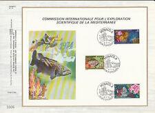 a  feuillet CEF Monaco exploration scientifique de la méditerranée poisson 1974